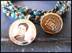 I like the idea of this bracelet. Maybe an old Army button? Could totally do one of these for every Who character!
