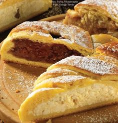 Kígyórétes - meggyes, almás, túrós (édes) Bread, Food, Brot, Essen, Baking, Meals, Breads, Buns, Yemek