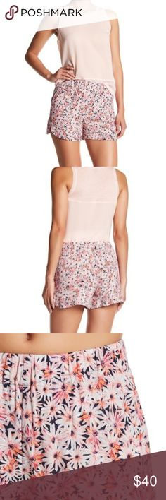 "NWT French Connection Bacongo Daisy Floral Short Brand new with tags, French Connection Bacongo Daisy Drape floral mini short. Lightweight crepe material, super cute to wear with a slouchy cardigan for spring or over a bikini by the pool. Has elastic waist and split side detailing. Waist measures 13"" flat across. Length is 13"".   Excellent condition, new with tags. Open to offers. No trades. No modeling. French Connection Shorts"