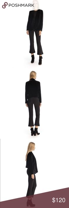 Walter Baker Large Seth Jacket Black Velvet A high-low velvet blazer to set your closet ablaze with style. A elegant jacket that is Perfect for the holidays, holiday parties, work parties, New Year's Eve. Walter Baker Jackets & Coats