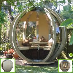 Backyard Getaway Globe. The Ornate Garden Rotating Lounger is the perfect seclusion getaway. Just steps away from your home, you could find peace and tranquility surrounded by the fragrant flowers in your own beautiful garden.