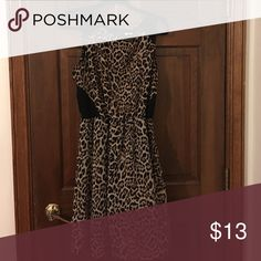 Cheetah print dress Cheetah print dress that is cinched at the waist. Has a short zipper in back Dresses Mini