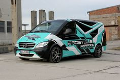 Mercedes Vito - commercial part wrap design project
