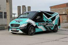 Mercedes Vito - commercial part wrap design project