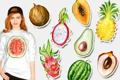 Watercolor tropical fruits clipart I am glad to present you a high quality watercolor collection with tropical fruits: watermelon, mango, kiwi, pineapple, Fruit Clipart, All Fruits, Tropical Fruits, Scrapbook Designs, Animated Cartoons, Wedding Designs, Watercolor Paintings, Watermelon, How To Draw Hands