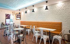 Restaurant Backstein weiss Ladrillo Loft blanco