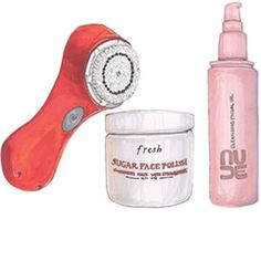 Dry Skin -Clarisonic Mia, Nude Cleansing Facial Oil, Fresh Sugar Face Polish