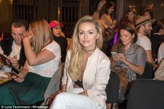Waiting for the action: Fashion fan Ola mingled with Amy Childs and Caprice at…