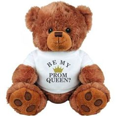 Be My Queen Prom Proposal | Ask your girlfriend to the High School prom with this cuddly and cute teddy bear! Be my prom queen? There's no way she will say no! You guys are going to be the prom King and Queen. No doubt about it!