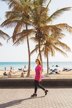 Chiara Magi - Traveling in Lanzarote - Beach and palms in Arrecife Canary Islands, Palms, Sicily, Traveling, Beach, Lanzarote, Viajes, The Beach, Canarian Islands