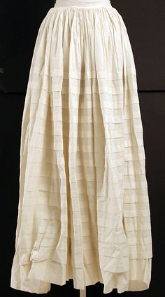 Cotton with tucks; American or European, 1860's. The Met, accession nr. C.I.42.74.13
