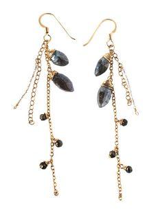 Cascading Labradorite Earrings - Sweet Lupine  $50.00  Stunning Handmade Gold and Labradorite Earrings | Made in America | Made in Hawaii | Handmade Jewelry | Unique Gifts | Drop Earrings | Cascading Earrings | Gemstones