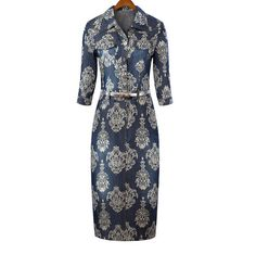 Women dresses print designer vintage stylish dresses ND-B1065
