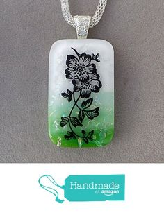 Flower Fused Dichroic Glass Pendant Necklace Silver Bail A2940 from Lolas Glass Pendants http://www.amazon.com/dp/B015JFZ0L4/ref=hnd_sw_r_pi_dp_NH.lwb0M2EXY9 #handmadeatamazon