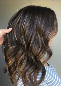 Remy Human Hair Sew in Weft Natural Black Mixed Brown Balayage - All About Hairstyles Dark Ombre Hair, Brown Hair Balayage, Brown Blonde Hair, Balayage Brunette, Ombre Hair Color, Hair Color Balayage, Light Brown Hair, Brown Hair Colors, Chocolate Brown Hair With Highlights
