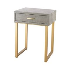 Sterling Industries Dimond Home Beaufort Point Accent Side Table With Drawer (Gold,Grey) Furniture, Table, Wood And Metal, Accent Table, Dimond Home, Side Table With Drawer, Elk Home, Accent Side Table, End Tables