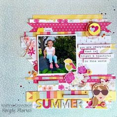 SPARKLE /& SHINE TITLE  JULY 4TH scrapbook premade paper piecing by Rhonda