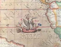 my favorite maps/globes have details like ships and seamonsters!