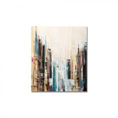 "Graham & Brown Handpainted City Abstract Printed Canvas Art - 28"" X 24"" - 40-254"