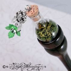 Moss Maiden Terrarium Hair Stick by NightBlooming on Etsy, $45.00