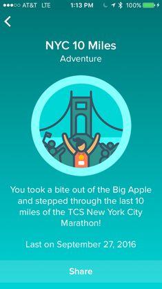 Fitbit Adventures- NYC 10 Mile