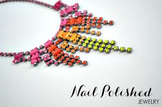 DIY nail polished jewelry