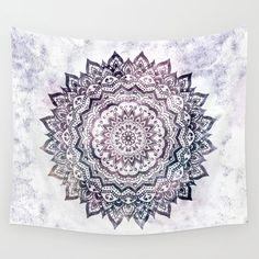 Tapestry - Purple Smoke Mandala - colorful boho mandala tapestry wall hanging for living rooms, bedrooms or dorm rooms