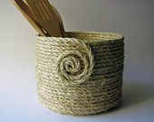 Items similar to Coiled Rope Basket on Etsy