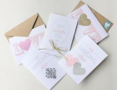 We Heart These 14 DIY Valentine's Day Cards via Brit + Co