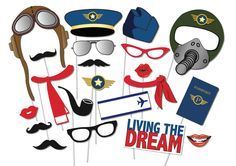 Airplane Pilot Photo booth Props Party Set - 21 Piece Printable - Top gun Party, Baby shower, 1st birthday party by TheQuirkyQuail on Etsy https://www.etsy.com/listing/179237232/airplane-pilot-photo-booth-props-party