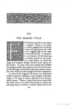 Title-pages as Seen by a Printer: With Numerous Illustrations in Facsimile ... - Theodore Low De Vinne - Google Books - Initial F