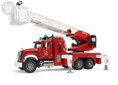 Bruder Toys Mack Granite Fire Engine with Ladder, Water Pump, and Light & Sound Module - Scale Realistic - Functional Toy Emergency Vehicle Toy Trucks, Fire Trucks, Toys For Little Kids, Police Siren, Benne, Play Vehicles, Toys R Us, Fire Engine, Fire Department