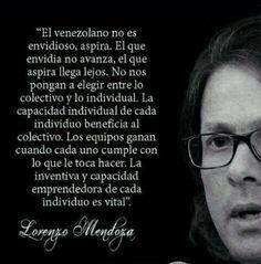 palabras de Lorenzo Mendoza