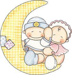 Imagen bebes en la luna:Imagenes y dibujos para imprimir.Todo en imagenes y dibujos