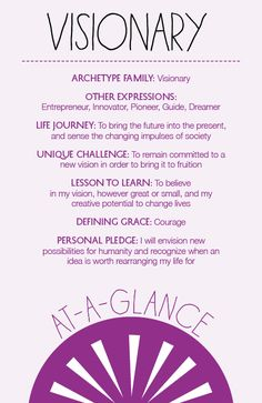 The Visionary Archetype at a Glance | Archetypes