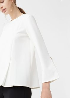 Pintuck detail blouse - Shirts for Woman | MANGO United Kingdom