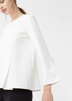 Blusa pormenor pregas - Camisas de Mulher | MANGO Portugal