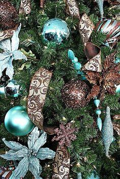 Blue and brown Christmas