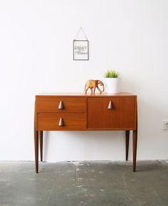 Vintage Sideboard aus den 60er Jahren, Teak Holz / vintage teak sideboard, wooden furniture by mele-pele via DaWanda.com