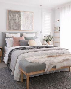 67 Great Ideas For Cozy Bedroom Decor 21 - myhomeorganic Home, Bedroom Makeover, Home Bedroom, Neutral Bedroom Decor, Bedroom Interior, Apartment Decor, Room Decor Bedroom, Interior Design, Bedroom Inspiration Cozy
