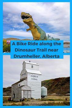 Biking the Dinosaur Trail trough Alberta's Badlands starting in #Drumheller #biking #cycling #badlands #Alberta