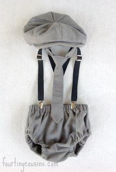 Baby Clothing Ideas - Newsboy Set for Baby Boy