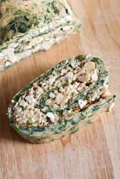 Scandi Home: Spinach omelette roll with quinoa, chickpea and fe...