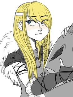 Astrid<~how have I never seen fanart of her with her hair down?