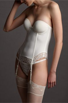 BHLDN has some great wedding lingerie!    Creamline Bustier in SHOP Bridesmaids & Partygoers Lingerie