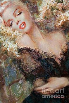 Marilyn Cherry Blossom Painting by Theo Danella