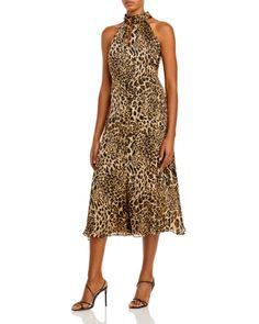 Casual Day Dresses, Summer Dresses, Leopard Outfits, Leopard Clothes, Midi Dresses Online, Flowy Skirt, Animal Print Dresses, Dress Cuts, Chiffon Dress