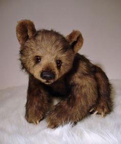 """Realistic OOAK (17"""") artist Grizzly Bear Cub """"SAWYER"""" by OsoMIMosO #AllOccasion"""