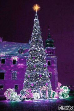Happy New Year GIF # happy # new- # christmas crafts crafts crafts crafts money money ideas crafts crafts Christmas Tree Gif, Christmas Scenery, Purple Christmas, Beautiful Christmas Trees, Christmas Love, Christmas Images, Christmas Wishes, Christmas Greetings, Christmas Holidays