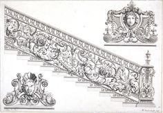 Design. Jean Tijou (designer). Michael Vandergucht (engraver). 1693. Engraving, ink on paper Museum no. 25082:9